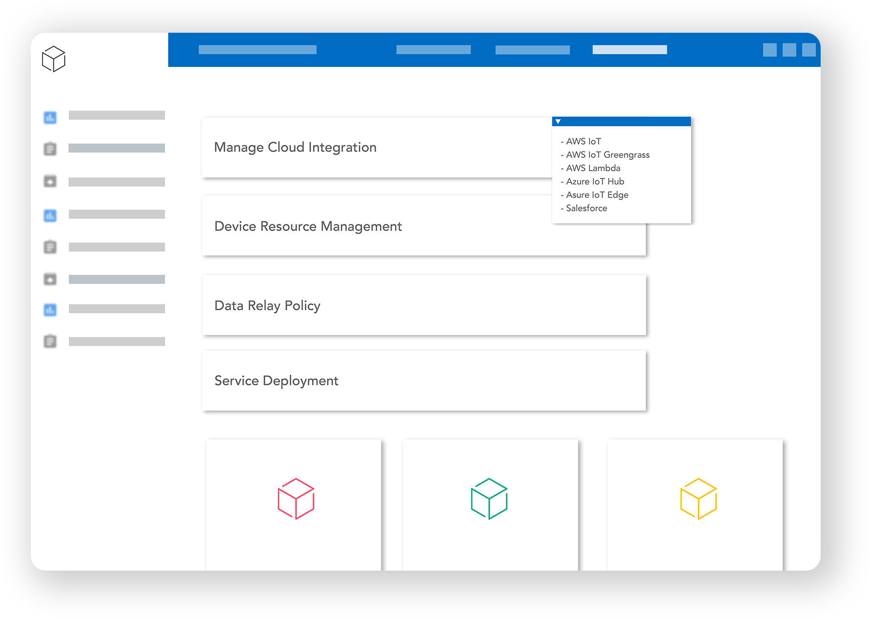 Cloud Integration Screen